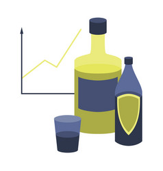 Flat icon on stylish background alcohol vector