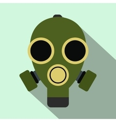 Gas mask flat icon vector