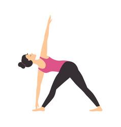 girl doing yoga exercise slim sporty young woman vector image