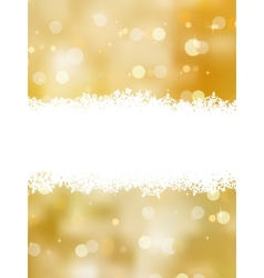 Gold christmas background with copy space EPS 8 vector image