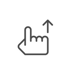 hand pointer line icon vector image