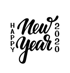 happy new year 2020 hand drawn creative vector image