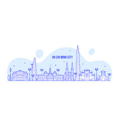 ho chi minh skyline vietnam city buildings vector image