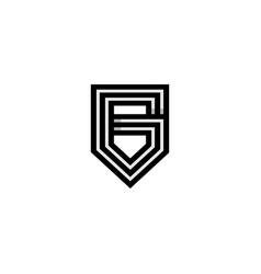 initial g monogram logo vector image