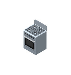 isolated cooker isometric stove element vector image
