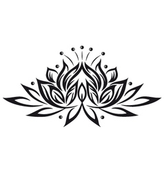 Lotus flower design element vector