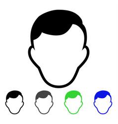 Man face template flat icon vector