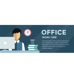 Manager Man on work place vector image