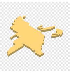 Map miami isometric icon vector