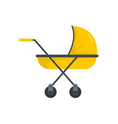 Modern baby carriage icon flat style vector