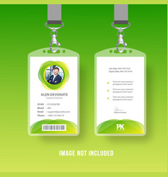 Modern business id card vector
