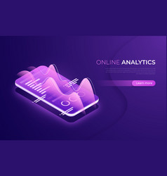 Online analytics data analysis financial vector