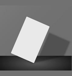 paper flyer business card 3d vector image