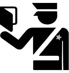 Passport icon on white background vector