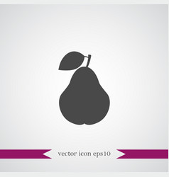 pear icon simple fruit vector image