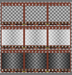 photographic film vector image