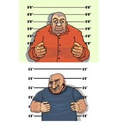 police mug shots thief and bandit vector image