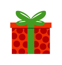 Red polkadot gift box vector