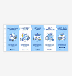 Self-isolation rules onboarding template contacts vector