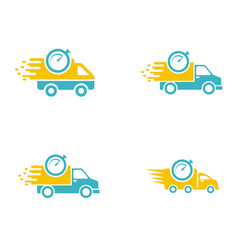 Set collection car delivery logo vector