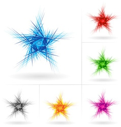 set of abstract stars vector image