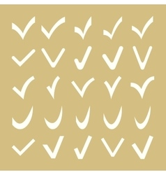 Set of Different Check Marks vector