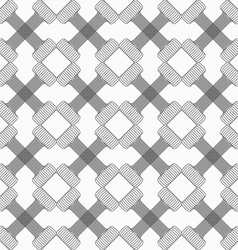 Shades of gray striped crossing double T shapes vector