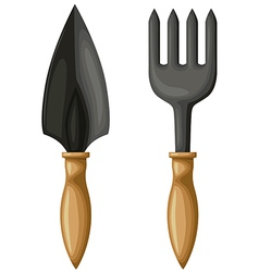 Shovel cultivator vector