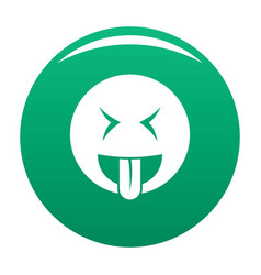smile icon green vector image