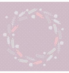 Soft floral frame vector image