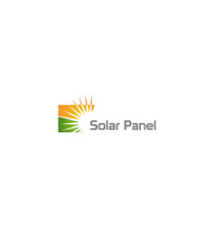 Solar panel energy sun company logo vector