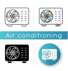 Split air conditioner icon vector