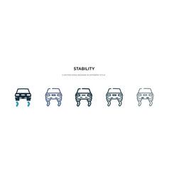 Stability icon in different style two colored vector