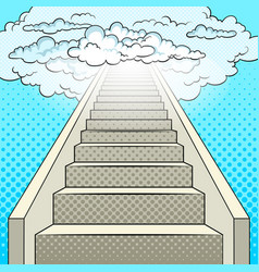 Stairway to heaven pop art vector