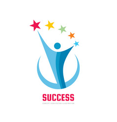 success progress - logo template concept vector image