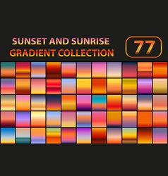 sunset and sunrise gradient set big collection vector image
