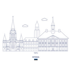 tartu city skyline vector image