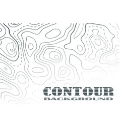 topographic map contour background line map with vector image