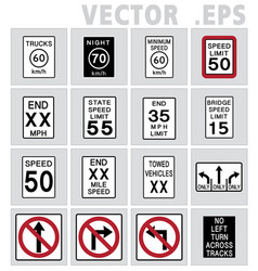 traffic sign road vector image