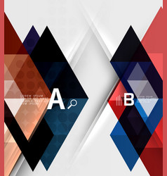 transparent triangle tiles banner vector image