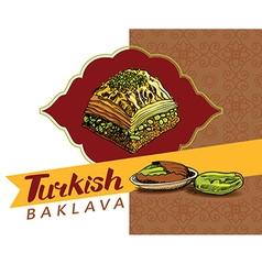 Turkish baklava 3 vector