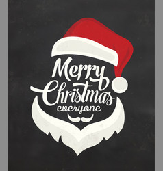 Typographic christmas background with santa vector