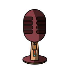 Vintage radio microphone vector