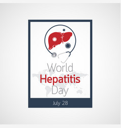 World hepatitis day icon vector