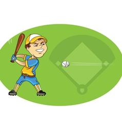 baseball player swinging vector image