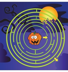 Halloween Maze vector image vector image