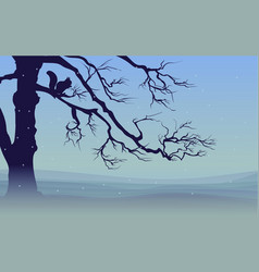 nature winter landscape template vector image vector image