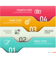 Abstract infographics steps design template vector image vector image