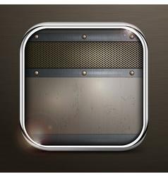 Metal square border icon vector image vector image