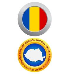 button as a symbol ROMANIA vector image vector image